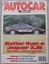 Autocar 5/8/1992 featuring Ferrari 348, Maserati Shamal, Subaru SVX, Honda CRX
