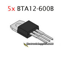 5x BTA12-600B 600V 12A by ST - USA Fast Shipping