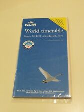 KLM Timetable  March 30, 1997 =
