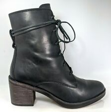 UGG Oriana Lace-Up Boot, Black Leather, Womens Size 8.5 US / 39.5