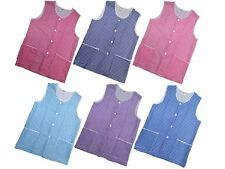 1 Ladies Check Sleeveless Tabard Apron Work Overall / Elaine / All Sizes