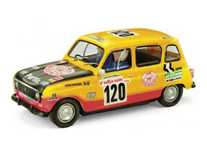 "SCX 1/32 SLOT CAR RENAULT 4L 1979 ""DAKAR"" #120 Yellow Rally w LIGHTS! A10160 NEW"