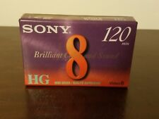 Sony 120 Minute HG Video8 Blank Tape New Stock