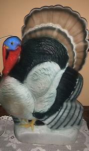 "Vintage Thanksgiving Union Lighted Blow Mold Don Featherstone 25"" Turkey decor"