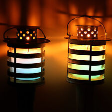 LED Metal Citronella Torch (Single) - scented, garden, colour change, votive, ca