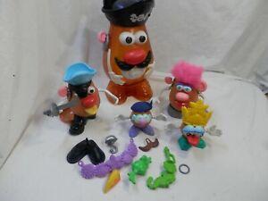 "Vintage 2002 Hasbro Mr. Potato Head Pirate Part Storage 15"" + Accessories"