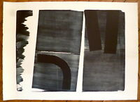 Hartung Hans Lithographie originale signée 1974 abstraction art abstrait