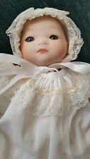BYE LO BABY DOLL MARKED GRACE S. PUTNAM  ♡ ADORNED IN CHRISTENING HAT AND GOWN