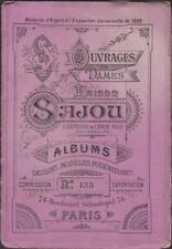 ALBUM DEPLIANT MAISON SAJOU N°133-VIOLET POUR BRODER LETTRES ALPHABET-MODELES