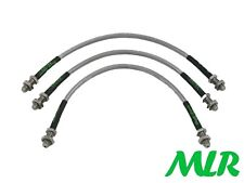 FORD ESCORT MK2 RS2000 MEXICO STAINLESS STEEL BRAIDED BRAKE LINES HOSES PIPES OF