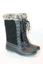 Sporto winter snow boots zip and tie natasha 6.5 wide black
