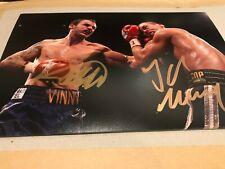 Kevin Mitchell & John Murray Signed Photo. British Boxing Greats Autographs