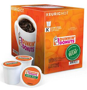 Dunkin' Donuts DECAF Original Coffee Pod Keurig K-Cups Medium Roast 22 Count FS