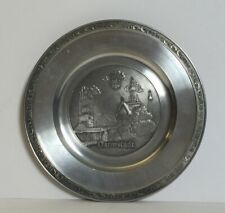 Vintage Barthel-Zinn Germany 96% Pewter Collector Dish Plate Darmstadt