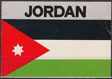 Jordanien Jordan used Post Card Postkarte Flagge flag[cm638]
