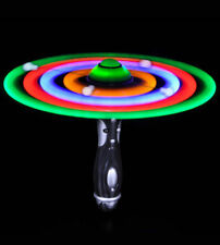 New LED Flashing UFO Spinning Alien Space Wand Toy for Kids