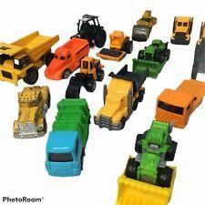 Vintage Construction Vehicles Die Cast Plastic Toys Tractor Farm Toy lot 16