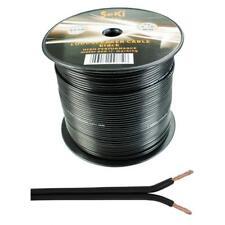 Lautsprecherkabel 100m - 2x1,5mm² - 100% CCA Kupfer ; Audiokabel - schwarz
