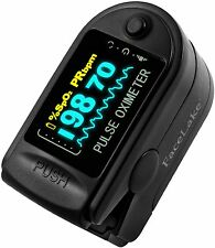 Pulse Oximeter Fingertip CMS50D / FL350 Blood Oxygen SpO2 Monitor - Black