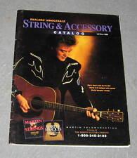 MARTIN Guitar String & Accessory Catalog Brochure Magazine RARE Vintage 1996