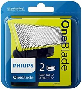 Philips OneBlade Replacement blades - Pack of 2 -Fits all One Blade Handles UK