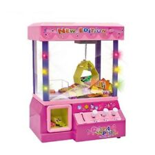 Electronic Claw Machine Candy Grabber Arcade Kids Toy Music Crane Pink