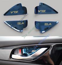 4Pcs Chrome ABS Blue Interior Door Handle Bowl Cover For Mazda 3 Axela 2014-18