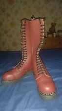 Cabeza Rapada Rojo Cereza/gay interés/rojizo Amoladoras King 20 orificios botas talla 8