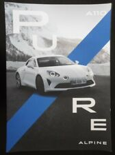 ALPINE A110 PURE orig 2018 Very Large Format Sales Brochure - Renault