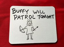 Buffy, la cazavampiros patrulla inspirado Mouse Mat Pad Para Pc Y Laptop Juegos Divertidos