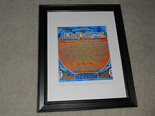 "Framed Lollapalooza 2009 Mini-Poster, Depeche Mode,Tool,Killers,Beastie 14""x17"""