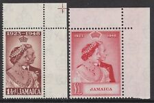 JAMAICA 1948 SILVER WEDDING SET, FINE UNMOUNTED MINT CORNER EXAMPLES, CAT £28