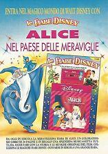 X1576 Alice nel paese delle meraviglie - Le Fiabe Disney - Pubblicità del 1991