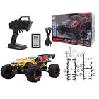 1 Set 1:8 Remote Control Car Four Wheels Brushless RC Truck EU Plug Yellow + Red