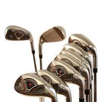 NEW CUSTOM MADE SOFT REGULAR flex Golf Clubs R STEEL TAYLOR FIT HYBRID IRON Set