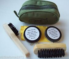 NEW - Mini Boot Shoe Cleaning Kit in Green Zip Pouch - Army RAF Air Cadets