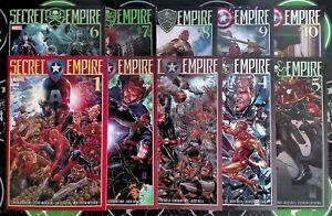 Secret Empire #1-10 (2017) Marvel Comics Complete Set Avengers X-Men Inhumans