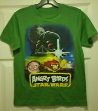 New Angry Birds Star Wars Poster Youth Medium T-shirt Video Gaming Tee