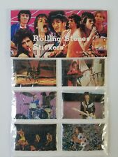 Rolling Stones 6 Puffy Stickers 1 Pack All Different 1983 Vintage