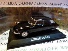 voiture 1/43 NOREV atlas voiture de mon père : CITROËN DS 21 noire