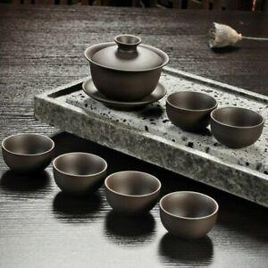 Teapot Teacup Tea Set Chinese Kung Fu Handmade Drinkware Purple Sand Tea Infuser