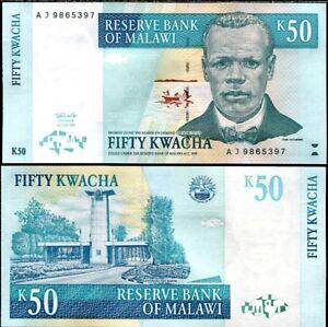 MALAWI 50 KWACHA 1997 P 39 UNC