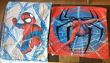 Lot Of Spiderman Bedding and Bath One Pillowcase One Towel Childrens Boys Beach