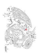 Genuine Lid hinge right AUDI A6 Avant S6 quattro A7 Sportback 4G8823302E