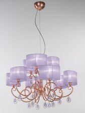 Lampadario classico di design in foglia rame con paralumi BELL elena 3023/L9L