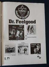Publicité advert album concert tournée DR FEELGOOD 1977 Lp sneakin' suspicion