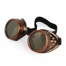 Bronzo Marrone con lenti Steampunk Cosplay Adulti Fashion Occhiali Occhiali