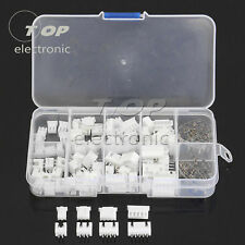 40 Sets JST 2.5mm XH 2P 3P 4P 5Pin Male Female Housing Connector with Crimps