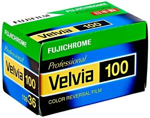 1 x Roll FUJI VELVIA 100 FRESH Color Slide Film--35mm/36 exps--expiry: 01/2023