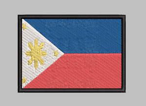 Philippines Flag Patch Iron On Sew On Hook Applique Satisfaction Guaranteed